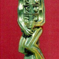 Cuidador de pajaros. bronce pulido 22.5x7x8.5