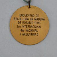 Encuentro Internacional De Escultura El Rosario Argentina 1996 Reverso