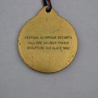 Juegos Olímpicos Escultura En Nieve Valloire Francia 1992 Reverso