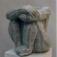 La espera. marmol bco. 26x21x21