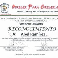 Reconocimeinto Del Ayuntamiento De San José Del Rincón 2012